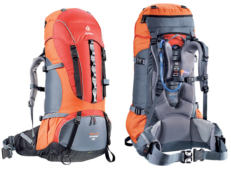 deuter aircontact 40 10 sl damen rucksack auslaufangebot farbe fire orange ebay. Black Bedroom Furniture Sets. Home Design Ideas